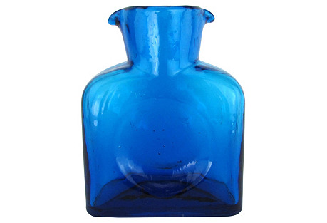 Blue Blenko Pitcher