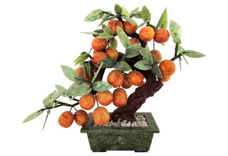 Painted Stone Mandarin Tree