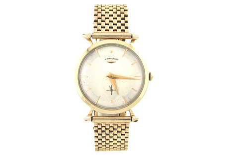 14K Gold Hamilton Watch & Bracelet