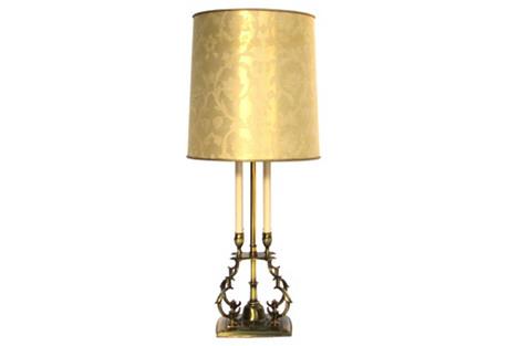 Stiffel Lamp w/ Original Shade