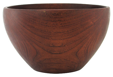 Midcentury Turned Walnut Bowl