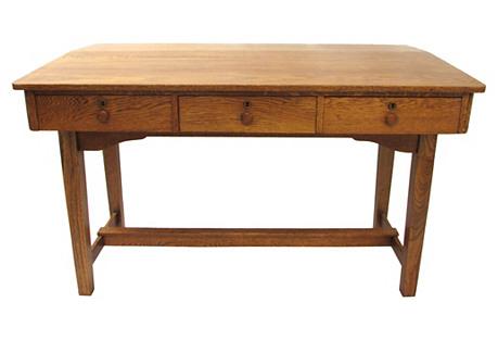 Antique Oak Postal Standing Desk