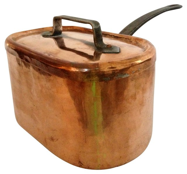 French Copper Pan w/ Lid