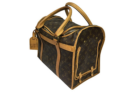 Vintage Louis Vuitton Small Dog Carrier