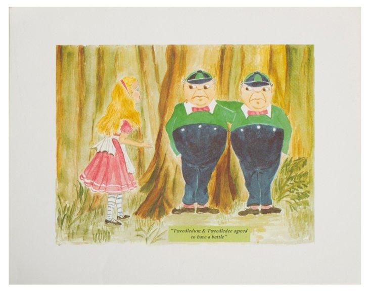 Tweedledee & Tweedledum Print