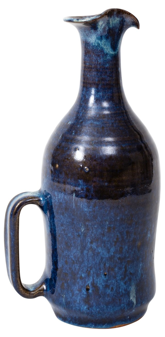 Blue Pottery Jug