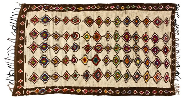 "Moroccan Rug, 4'9"" x 7'"
