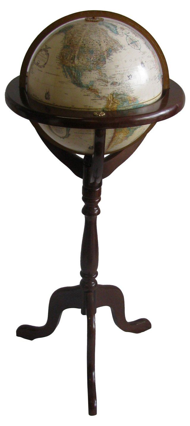 Globe & Wooden Stand