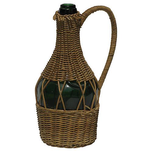 French Benedictine Bottle in Wicker