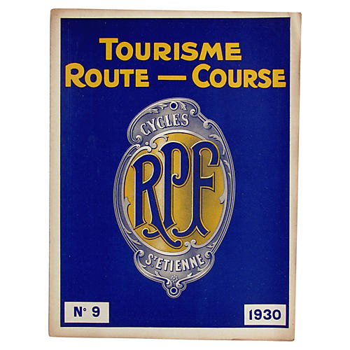 French RPF Cycling Periodical, C. 1930