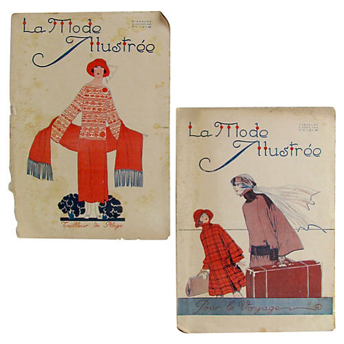 French Fashion Plates, S/2