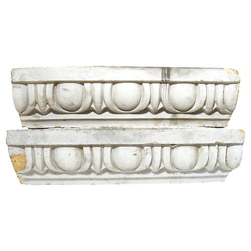 Terracotta Architectural Elements, Pair