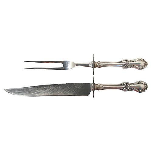 Sterling Carving Set, 2 Pcs