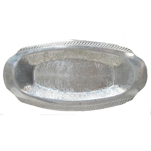 Mid-Century Aluminum Hors d'Ouevres Tray