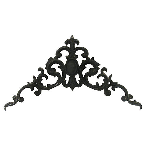 French Iron Pediment