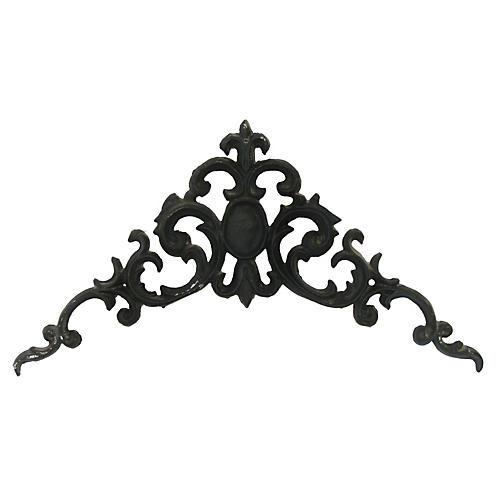 French Iron Pediment