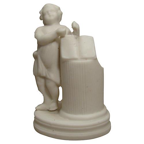 White Bisque Figural Match Striker