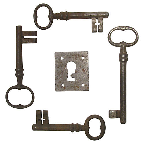 French Iron Key Collection, S/5