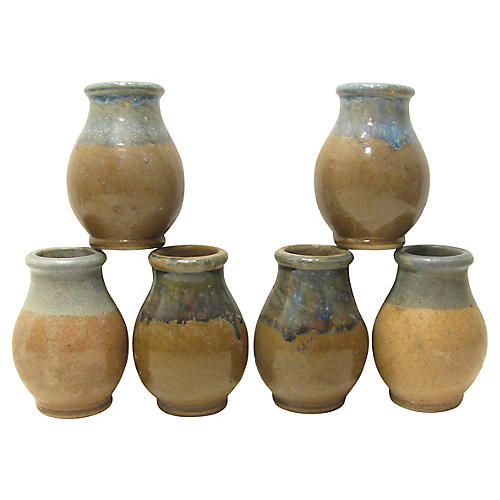 French Mustard Jars, S/6