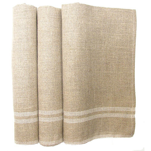 French Linen Torchons, S/3