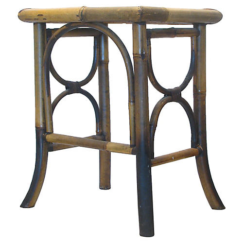 Scorched Bamboo Side Table