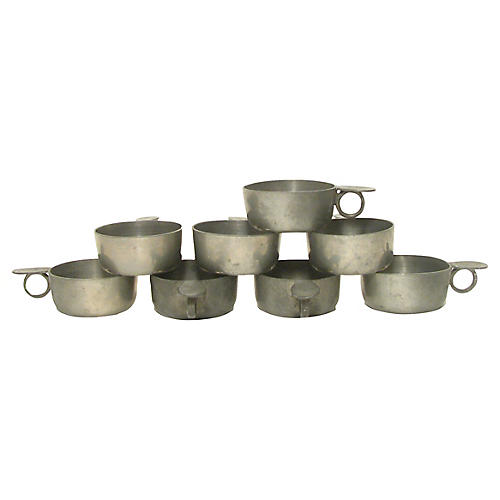 Petite Pewter Tastevin Collection, S/8