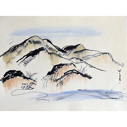 Asian Inspired Watercolor by Wiltse