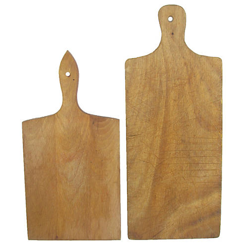 French Bread / Cheese Boards, Pair