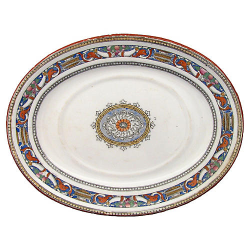 Antique Minton Platter, C.1875