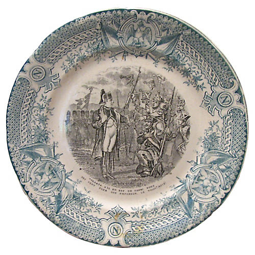 Antique French Napoleon Plate c.