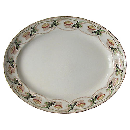 English Art Nouveau Platter
