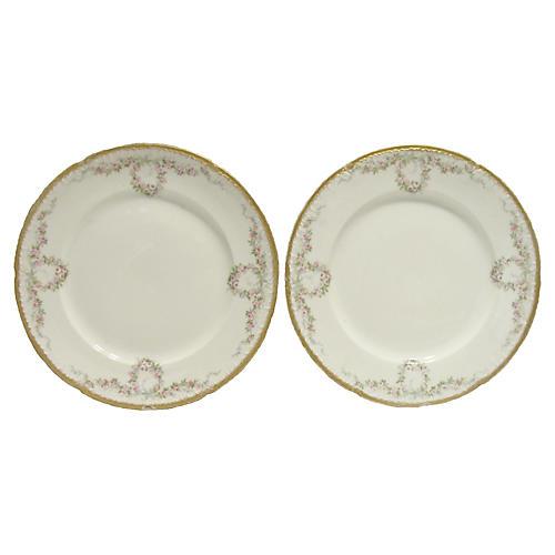 Antique Haviland Limoges Plates, Pair