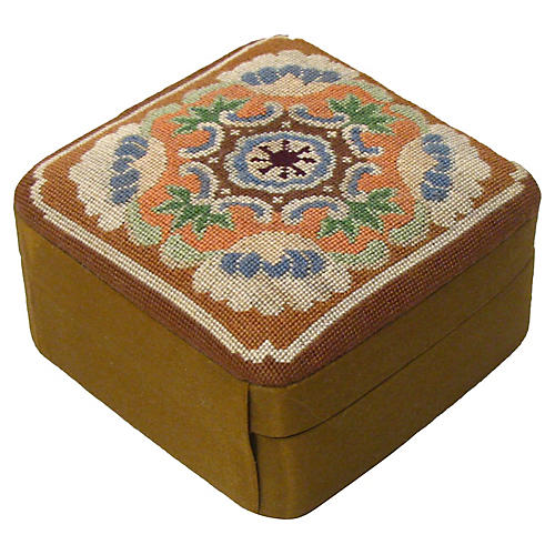 Silk Needlepoint Jewel Box