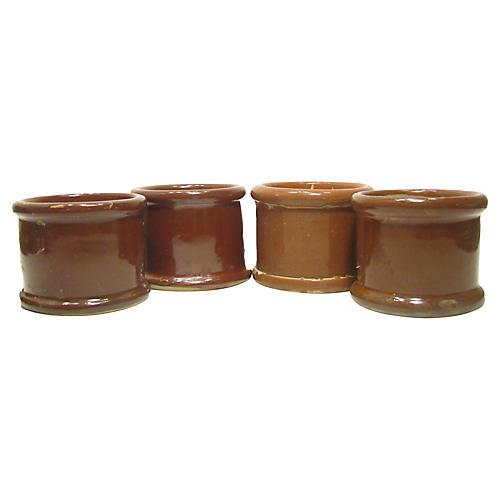English Victorian Pots, S/4