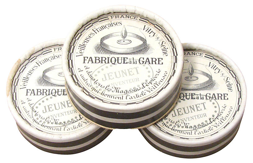 French Candle Wick Boxes, S/3