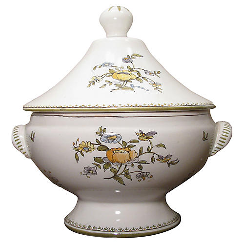 French Moustiers Faience Tureen