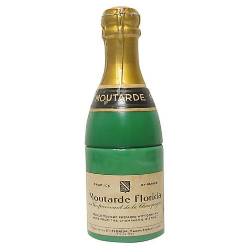 French Opaline Champagne Mustard Jar