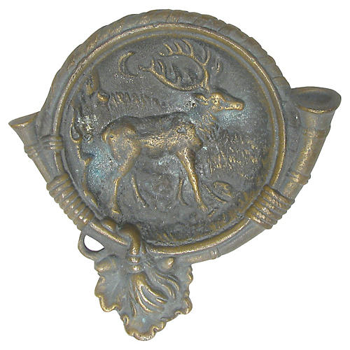 Bronze Hunting Stag Dish
