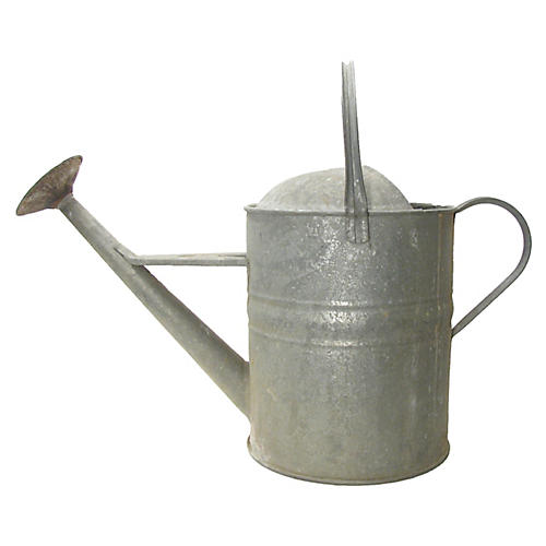 English Oversized Zinc Watering Can