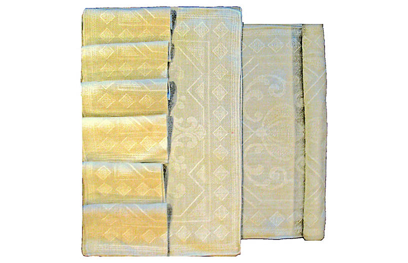 Taupe Table Linen Collection, 16 Pcs