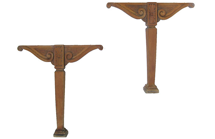 French Carved Architectural Elements S/2