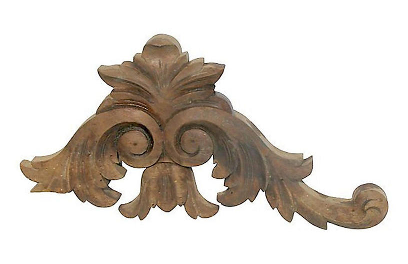 French Wood Architectural Element