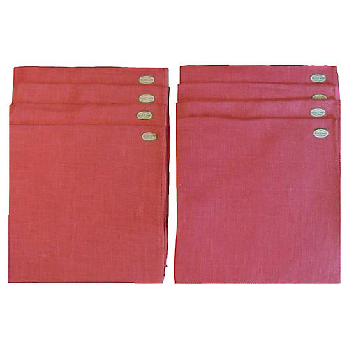 Oversized Irish Linen Dinner Napkins S/8
