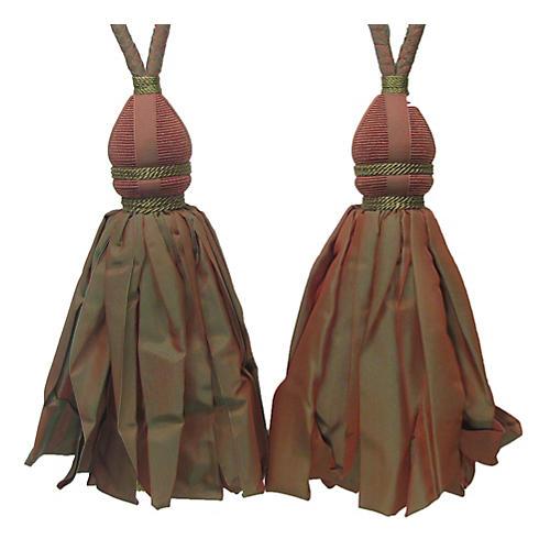 Paprika Tie Backs w/ Ballgown Tassel S/2