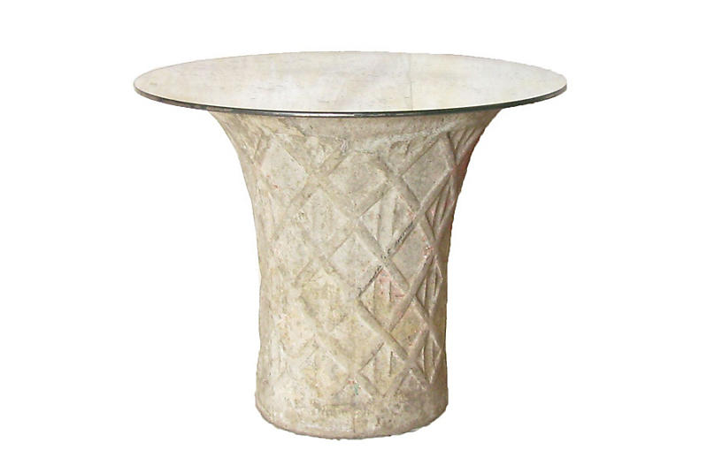 French Concrete Planter Table