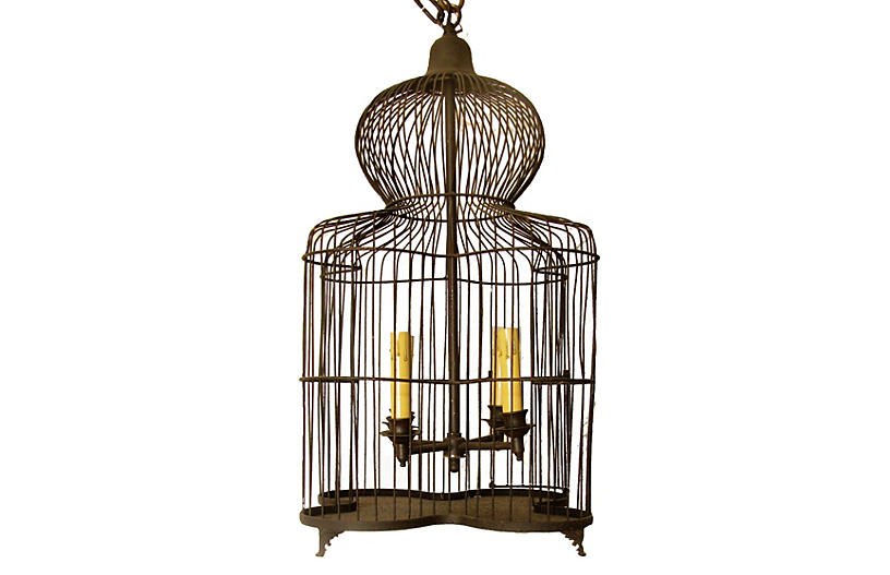 French Custom Birdcage Light