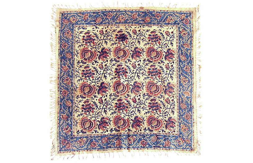 Qalamkari Persian Floral Textile