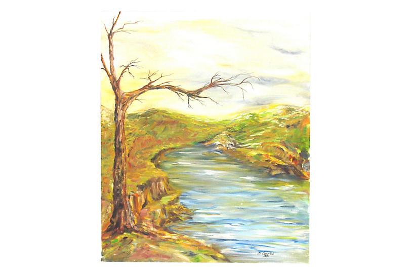 River Landscape by B. Coonfield, 1980