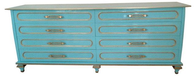 Blue Midcentury Dresser