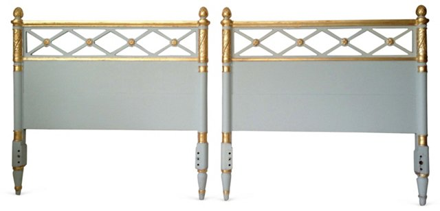 Neoclassical-Style Twin Headboards, Pair